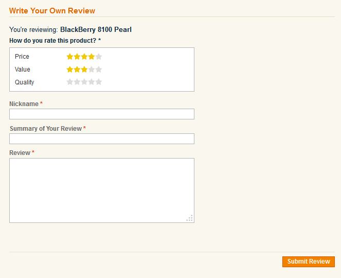 Simple Magento review starts